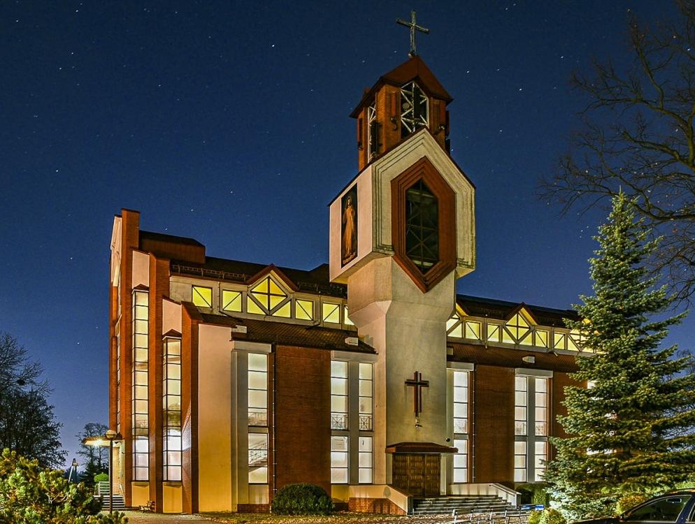 Kościół Niepokalanego Serca NMP - w nocy